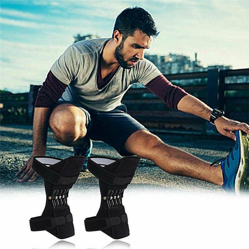 1 par joint support joelheiras tibial booster joelho fitness ginásio esportes respirável anti-deslizamento power lift joint apoio joelheiras