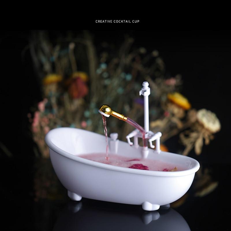 مضحك الإبداعية حوض الاستحمام كوكتيل الزجاج الكهربائية دوري رذاذ الماء كوب ميلك شيك المشروبات الباردة بار ملهى ليلي تيكي الوجه كأس نبيذ