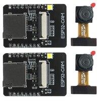 קידום-2 סט Esp32-Cam מצלמה Wifi + Bluetooth מודול 4M Psram Dual-Core 32 סיביות מעבד פיתוח לוח עם Ov2640 2Mp מצלמה