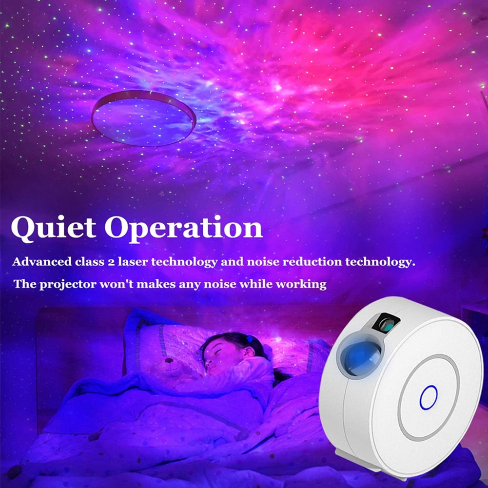 Star Sky Projector Star Night Light Remote Control Nebula Cloud Night Lamp Projector for Home Party Decoration Bedroom Lamp enlarge