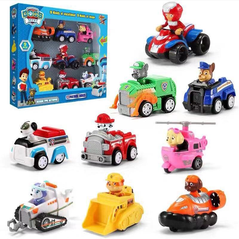 Original Box Paw Patrol Hunde Rettungs Set Welpen Patrol Spielzeug Autos Patrulla Canina Ryder Anime Action-figuren Modell Auto Spielzeug geschenk
