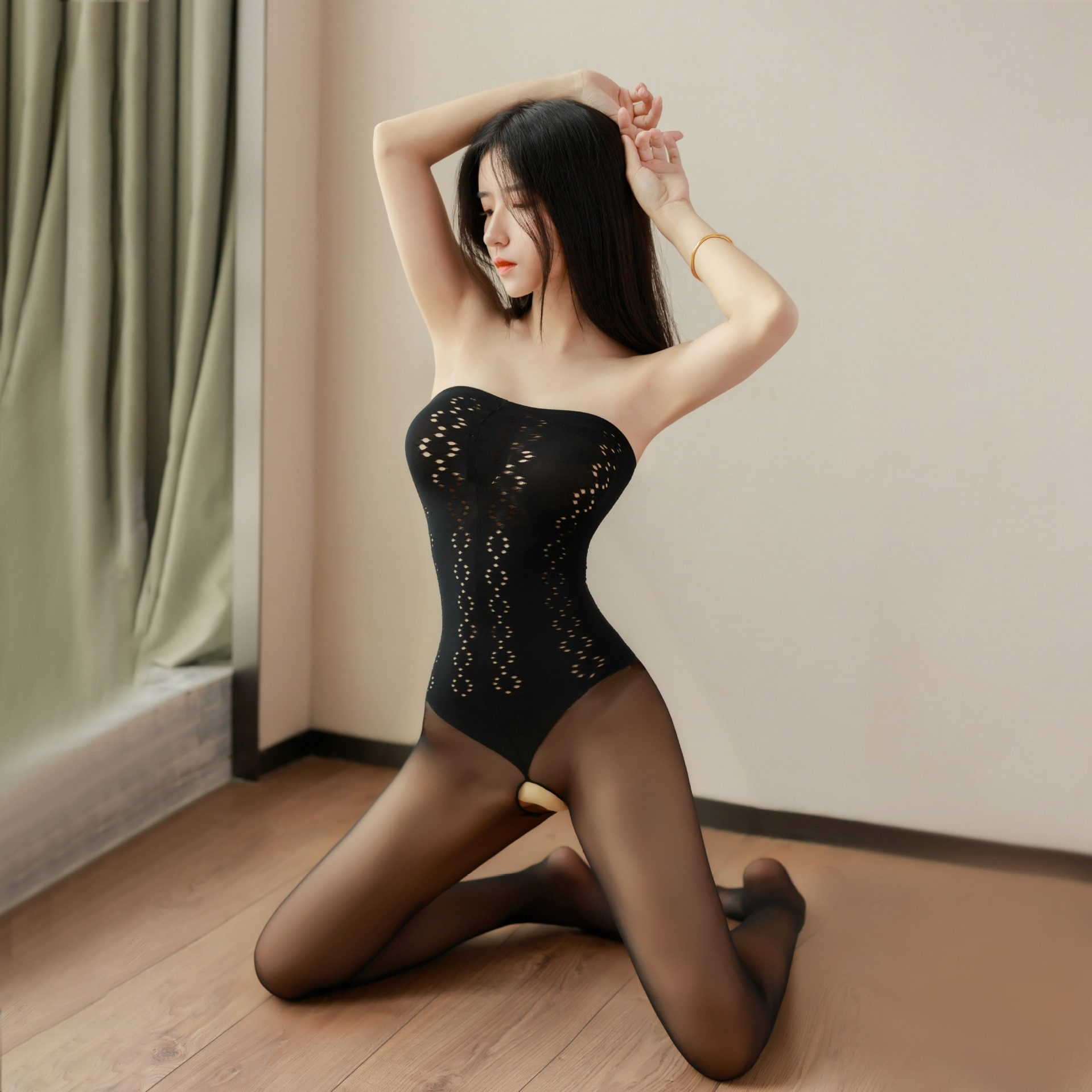Mesh Novelty & Special Use Sexy Clothing Sexy Underwear Exotic Apparel Jumpsuit Full Body Stockings