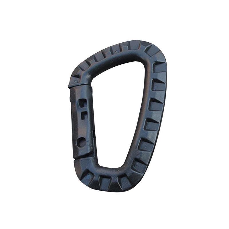 Outdoor carabiner Lightweight medium tactical bag outdoor carabiner steel hanging hook Quick buckle Tactical Plastic H0T9