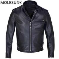 akoosun high quality genuine leather jacket men 2021 spring autumn horsehide coat short plus size men clothing chaquetas hombre