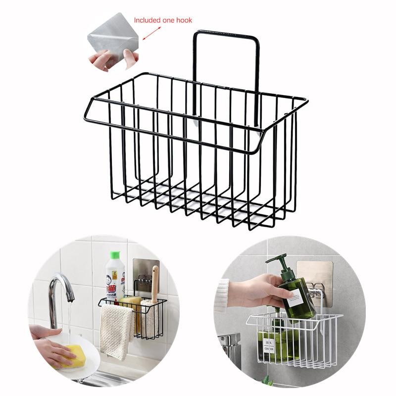 Подвесная сушилка, корзина для хранения, кухонная тряпка, держатель для губки, корзина для хранения, органайзер для полотенец и шампуня в ванной комнате