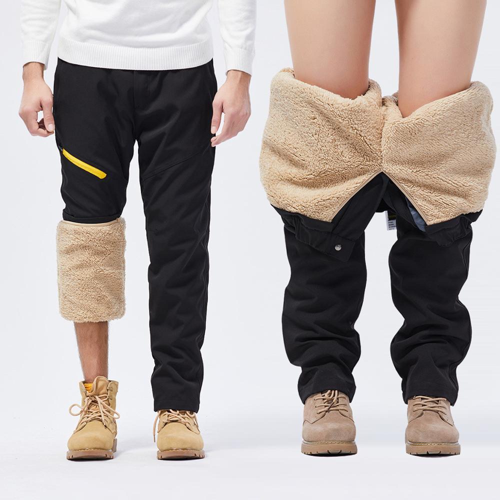 Лыжные штаны для мужчин, зимние ветрозащитные водонепроницаемые штаны из флиса для сноуборда и снега, толстые теплые штаны, мужские треккин...