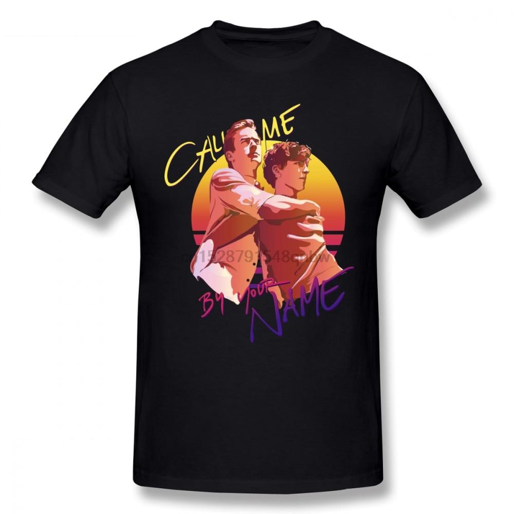 Call Me By Your Name Retro Sunset hombres camiseta Hiphop Tv 4XL 5XL 6XL algodón cuello redondo manga corta ropa personalizada para hombres