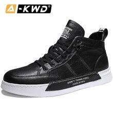Mode Simple hommes baskets décontracté en cuir Pu Homme chaussure hauts chaussures pour hommes Chausure Homme été respirant Homme Shoose 44