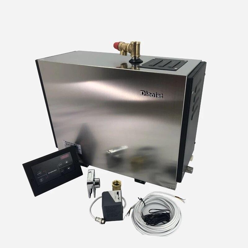 التلقائي مولد بخار الفولاذ المقاوم للصدأ المنزلية تبخير غرفة ساونا حمام البخار آلة للاسترخاء غرفة سبا جهاز تحكم رقمي