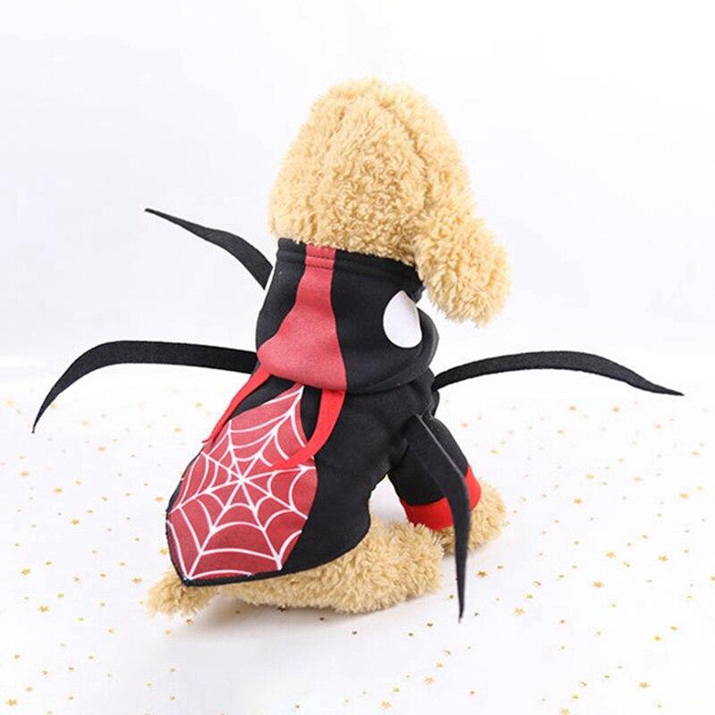 Para Mascotas cachorro de perro de Halloween decoración de Halloween suministros de la araña divertido Cosplay traje abrigo perros clima frío cachorro 2-patas Abrigo con capucha