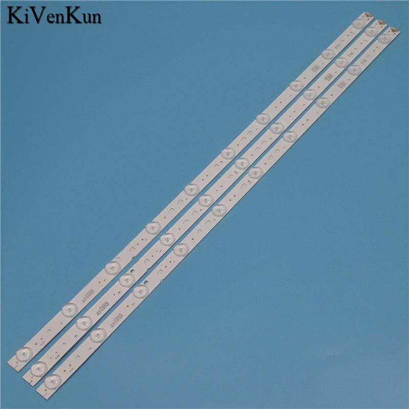 Tiras de retroiluminación LED para Haier LE32A31 LE32A7100L LE32B310G bandas de juego de barras LED LED315D10-07(B) Reglas LED315D10-ZC14-07(A)