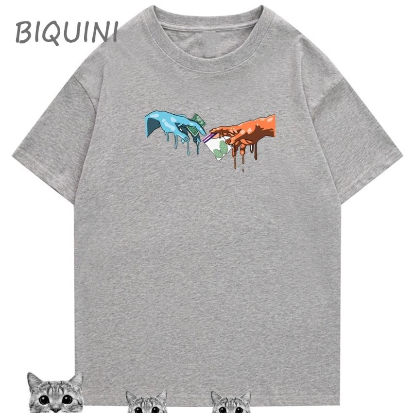 El dinero puede comprar la camiseta de HAPPYNESS imprimir las camisas de las mujeres de los 90 de talla grande camiseta divertida de Harajuku saltando la camiseta de la cebra camiseta Streetwear