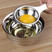 1pc stainless steel kitchen egg yolk white separator gadgets tools for cooking baking 35p