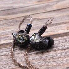 BGVP DH3 2BA 1DD dostosowana słuchawka hi-fi słuchawki douszne słuchawki wymienne kabel interfejs MMCX słuchawki douszne DM6 DM7 DMS