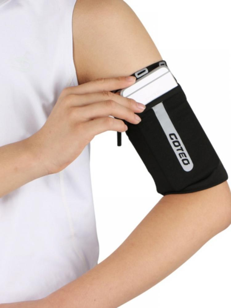 Unisex Outdoor Running Mobile Phone Arm Bag Elastic Arm Cover Personal Anti-Theft Sports Hand Sleeve Bag Reflective Wrist Bag