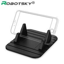 Soporte para teléfono móvil Universal para coche soporte antideslizante de goma estera soporte para teléfono soporte para Huawei Samsung Xiaomi