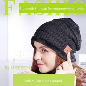 Winter Fashion Warm Beanie Bluetooth LED Hat Bluetooth Winter Hat Wireless Smart Cap Headset Headphone Speaker 5.0 Bluetooth