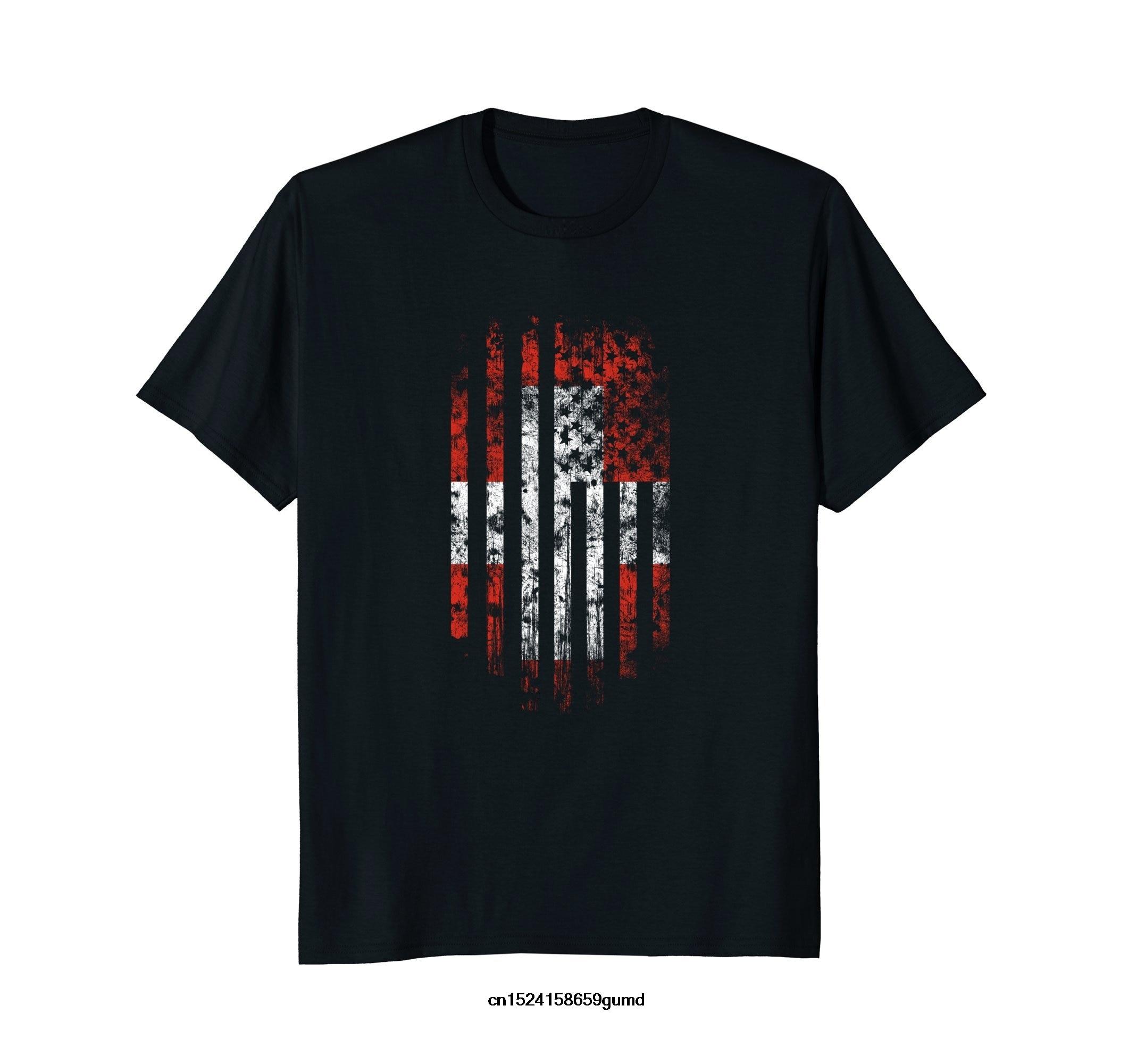 Camiseta divertida para hombre nueva camiseta de manga corta para mujer bandera suiza americana camiseta Suiza