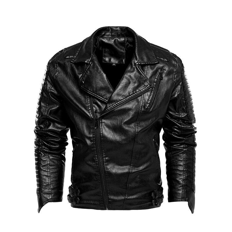 الرجال سترة جلدية سباق الدراجات النارية الملابس خليط كبير الحجم الرجال معطف جلد 2021 الخريف والشتاء سترة جديد