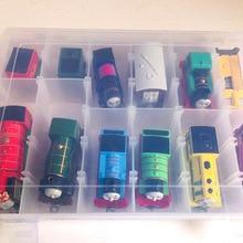Thomas et ami boîte de rangement en plastique Portable tenir 12 Trains voitures modèles multi-usages PVC Train jouet boîte enfants Juguetes cadeaux
