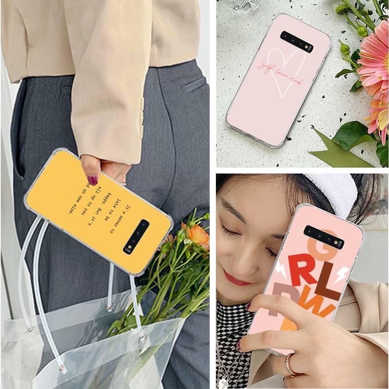 Koel Licht Achtergrond Brieven Telefoon Case Voor Samsung S10 S10Lite S9 Plus S9 Gs8 A10 A20 A12 Casephone Case Soft tpu Back Cover
