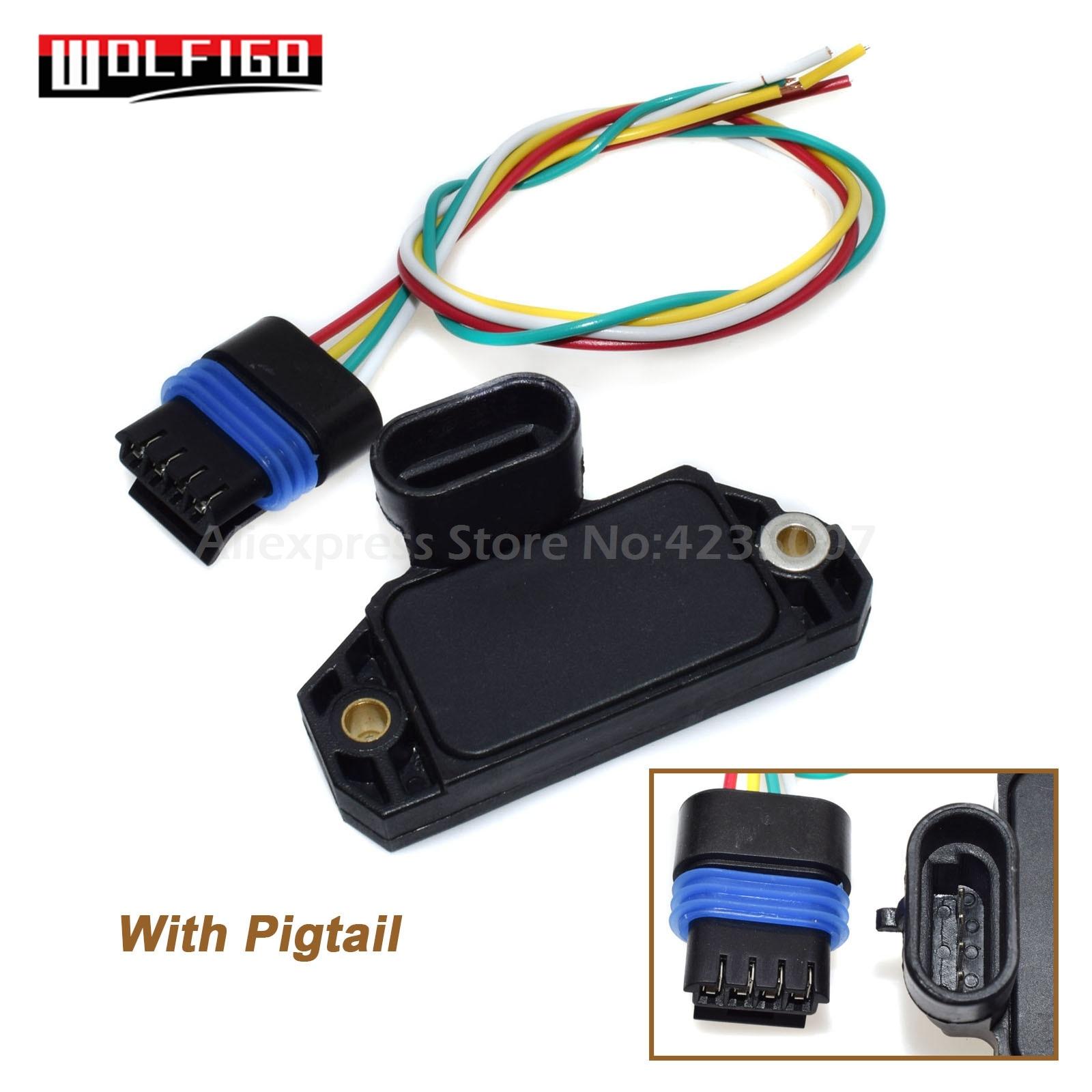WOLFIGO para G-MC Chevrolet CADILLAC BUICK ISUZU, módulo de CONTROL de encendido con arnés conector de enchufe 10482803, 8104828030