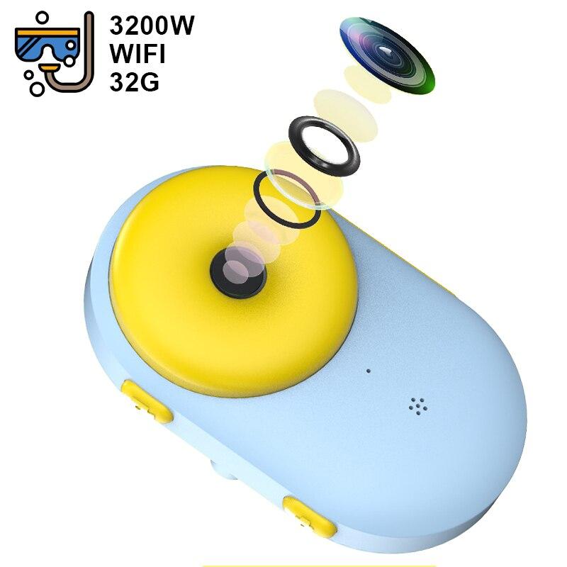 WiFi Children's Waterproof Camera Mini Dual Photography Camera Sports Digital Camera Toy Birthday Gift Kids Camera