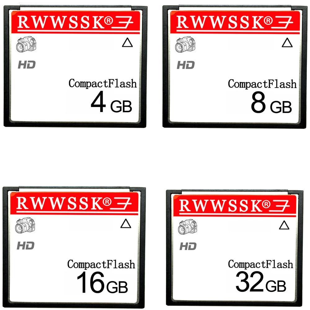 Alta calidad RWWSSK SLC Flash compacto tarjeta CF 128MB 256MB 1GB 2GB 4GB 8GB 16GB 32GB 64GB tarjeta de memoria cf 133X 266X 20 MB/S