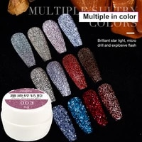 reflective glitter gel nail polish sparkling auroras laser nail gel varnish semi permanent top base coat manicure nail gel