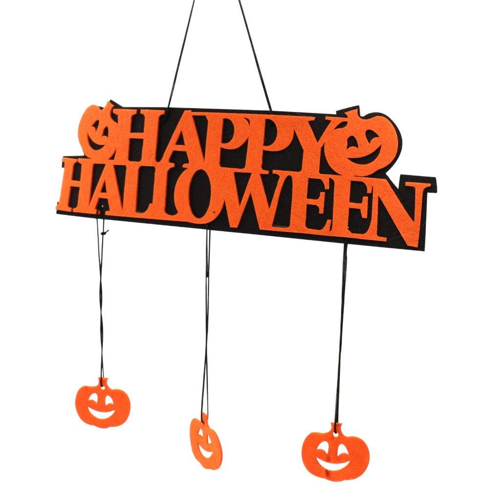 1 Uds. Señal de Halloween de 35x10cm, adorno colgante de calabaza para DIY, señal de ventana puerta o pared, suministro para decoración de fiesta de Halloween