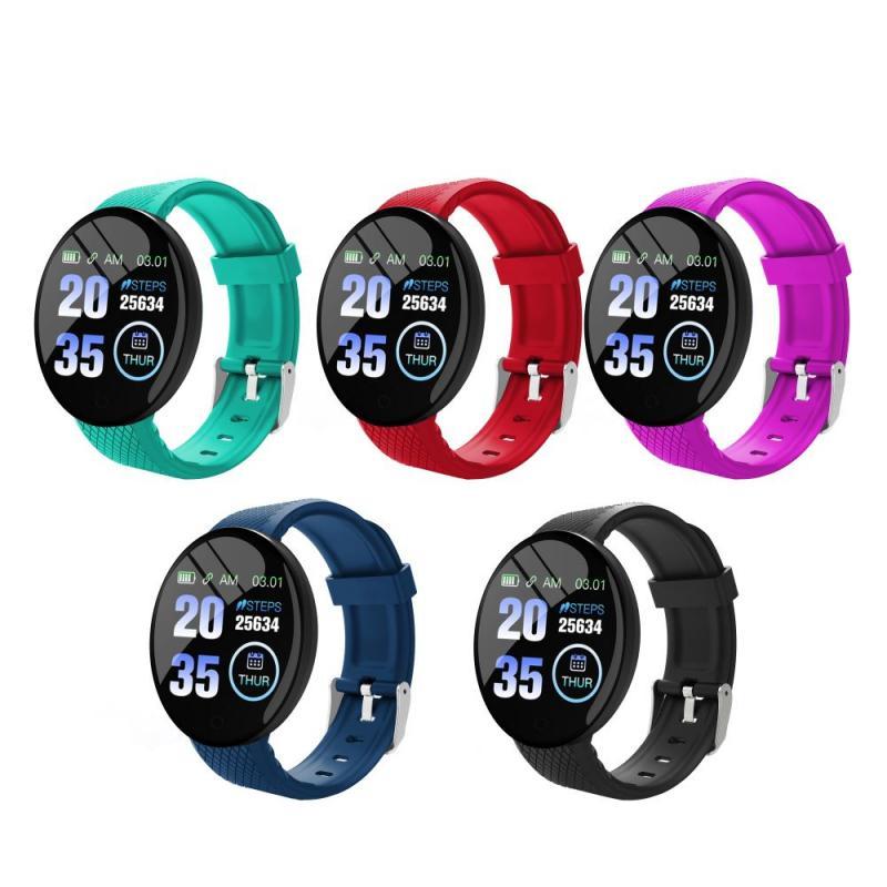 Умные часы D18 с Bluetooth, мужские умные часы с измерением артериального давления, женские водонепроницаемые спортивные умные часы