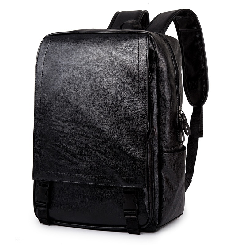 New Fashion Men Backpack Mens Backpacks for Teenager Luxury Designer PU Leather Male High Quality Travel