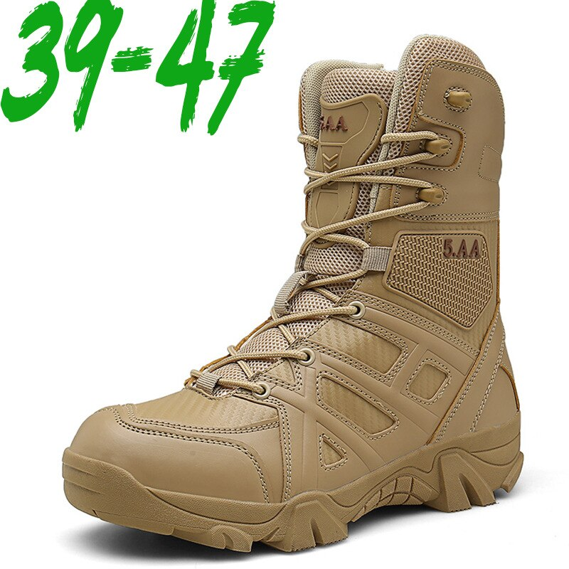 Men High Quality Brand Military Leather Boots Special Force Tactical Desert Combat Men's Boots Outdoor Shoes Ankle Boots Zapatos men desert tactical military boots mens work safty shoes special force waterproof army boot lace up combat ankle boots