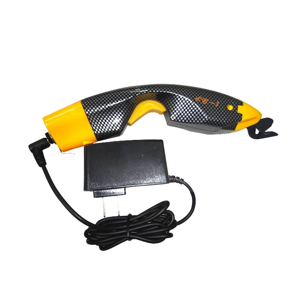 SEC-1 بسيطة مضمنة الكهربائية مقص ، قطع الخياطة أداة جلدية الفيبرجلاس السجاد القاطع الطاقة القاطع مقص المنزلية