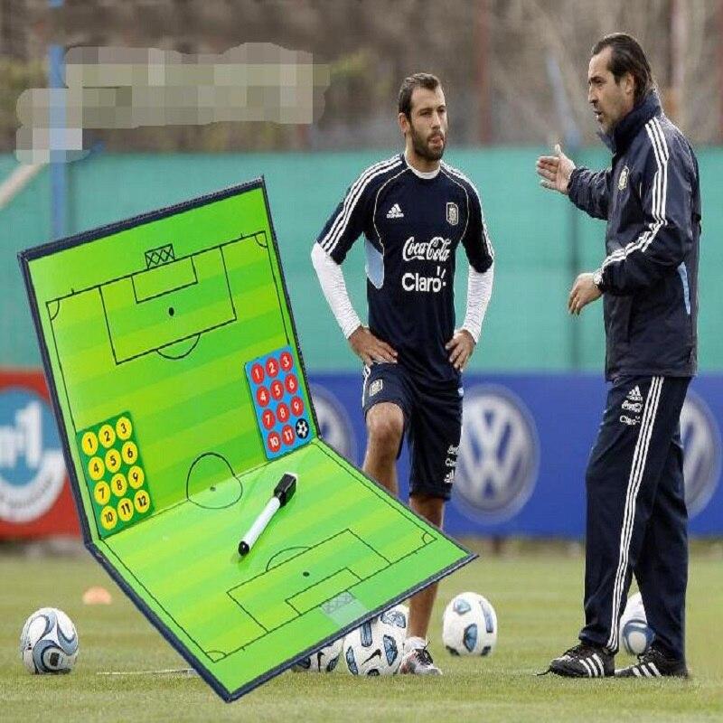 Tablero de táctica de fútbol plegable magnético de gama alta con pluma borrable tablero de enseñanza de entrenador de arena Tabla de táctica de fútbol gráfico