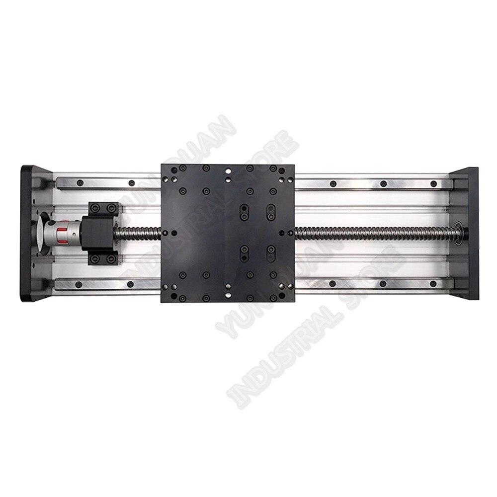 300 مللي متر السفر الحمل الثقيل واجب مزدوج دليل السكك الحديدية HGR20 4 قطعة HGH20 انزلاق الجدول الشريحة الخطي Ballscrew المحمول منصة راوتر CNC