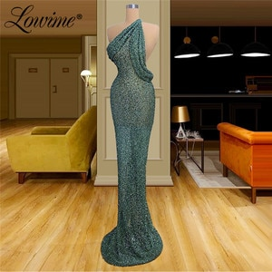 Simple Green Dresses Woman Party Night Hot Sexy Long Prom Dress 2020 Beaded Vestido De Festa African Mermaid Evening Party Gown