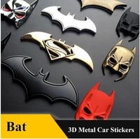 3d car stickers cool metal bat auto logo car styling metal bat badge emblem tail decal motorcycle car accessories automobiles