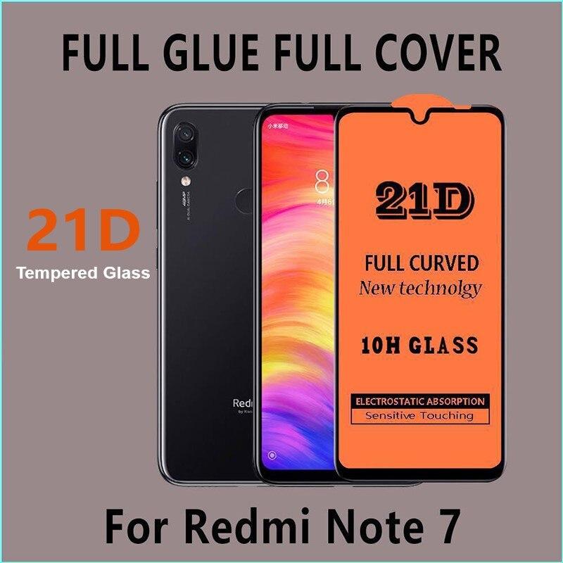 50 قطعة/الوحدة 21D حامي الشاشة ل شاومي Redmi نوت 8 T 8 برو 7 برو نوت 9pro ماكس غطاء كامل الزجاج المقسى فيلم على Redmi 8 7 7A