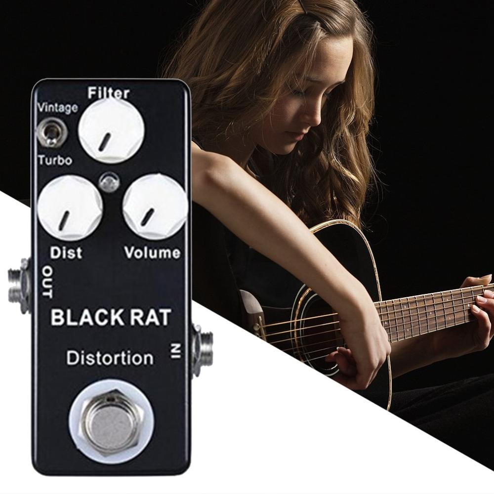 Guitar Mini Effects Zinc Aluminum Alloy On / Off LED Indicator Analog Signal Path Replace Guitar Accessories enlarge