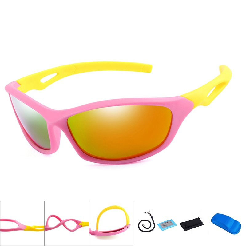 New Polarized Kids Cycling Sun Glasses Boys Girls Baby Quality Sport Sunglasses Children UV400 Eyewe