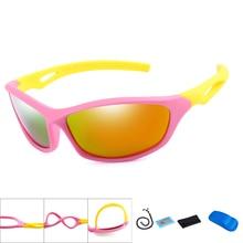 New Polarized Kids Cycling Sun Glasses Boys Girls Baby Quality Sport Sunglasses Children UV400 Eyewear with Case
