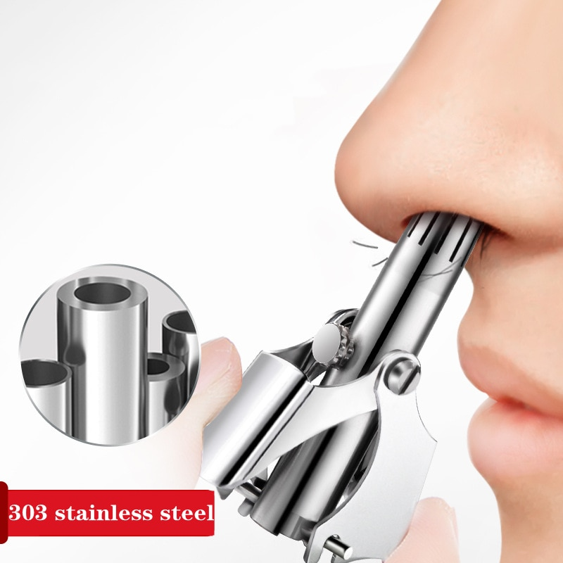 Nose Hair Trimmer for Men Ear Cleaner High Quality Stainless Steel Manual Device Mechanical Shaving And Hair Removal Tools