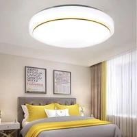 vipmoon recessed modern led strip white light flush ceiling light round thick 18w for bedroom kitchen living room