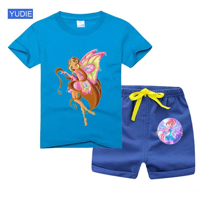 Hot Sale Brand Girl Boy Clothing Children Summer Boys Clothes Set Cartoon Kids Boy Clothing Short Sleeve T-shirt + Shorts Cotton недорого