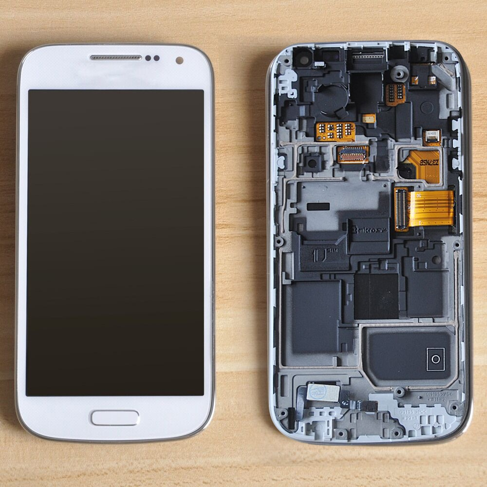 Sinbeda amoled display lcd do telefone móvel para samsung galaxy s4 mini i9190 i9190 i9190 i9190 lcd tela de toque digitador assembléia quadro