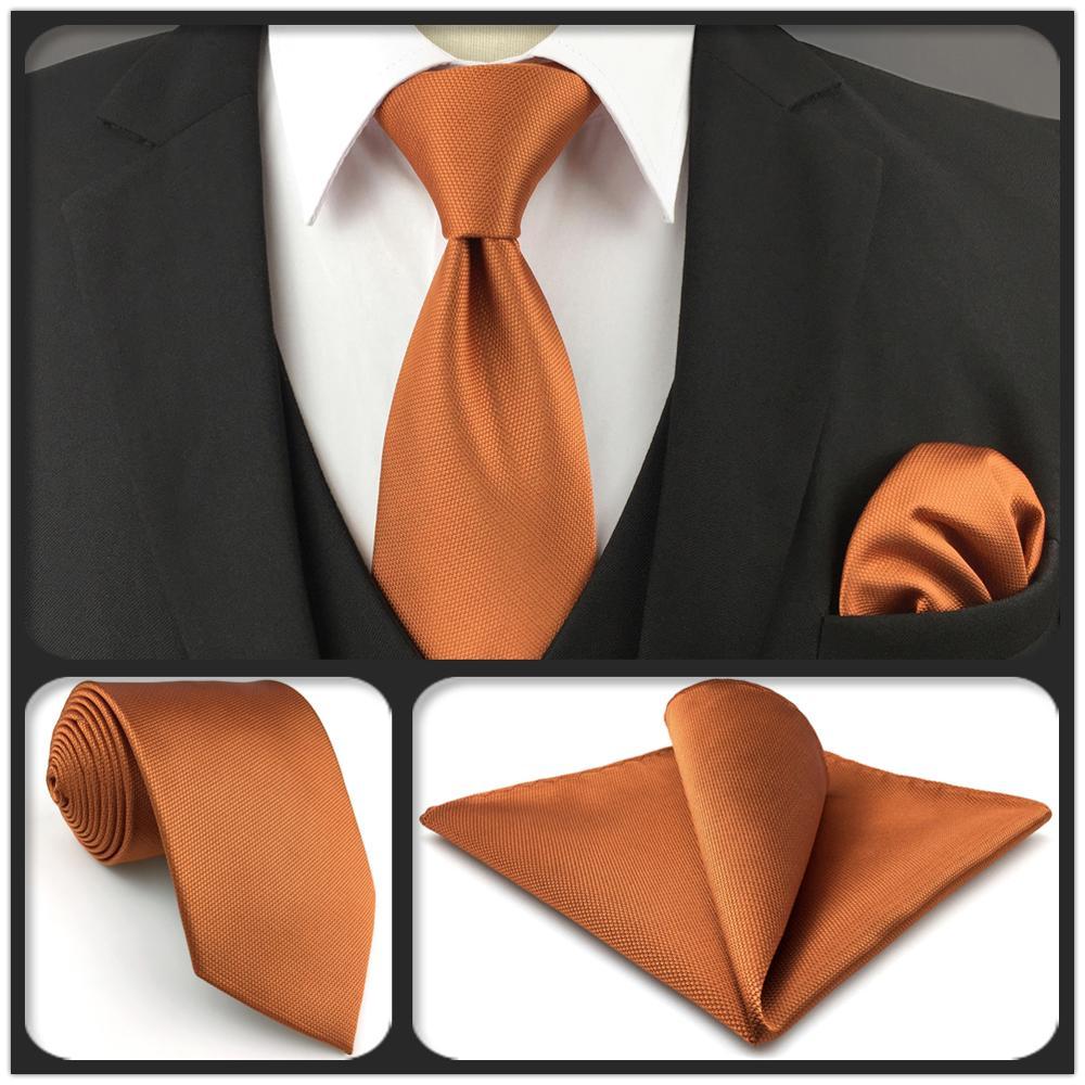 C16 Solid Orange Silk Mens Pocket Square Fashion Wedding Acceossories Hanky Brand New Handkerchief