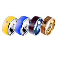 personalized custom men%e2%80%99s ring technology nfc smart for android phones and iphones functional couples stainless steel jewelry