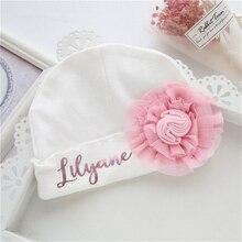 Personalized Princess Baby Girl Beanie Hat Baby Hospital Hat Baby Shower Gifts Custom Name Newborn B