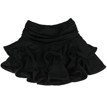 Femmes jupe danse latine jupe latine jupe ballet danse robe-XL, noir